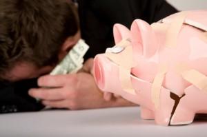Photo of broken piggy bank