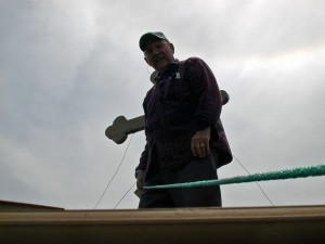 Dad on the roof at church