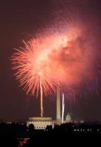 July 4th Fireworks over Washington, DC